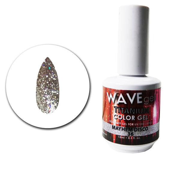 Wave Gel Titanium Collection- Mayhem Disco- 15mL