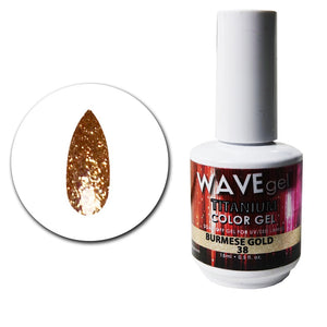 Wave Gel Titanium Collection- Burmese Gold- 15mL