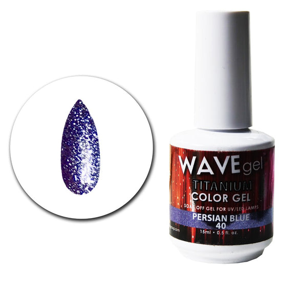 Wave Gel Titanium Collection- Persian Blue- 15mL