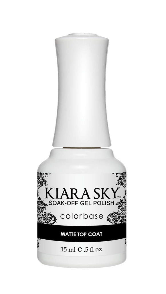 Kiara Sky Gel Soak-Off Gel Polish - 15 mL (Matte Top Coat - KSGUMAT01)