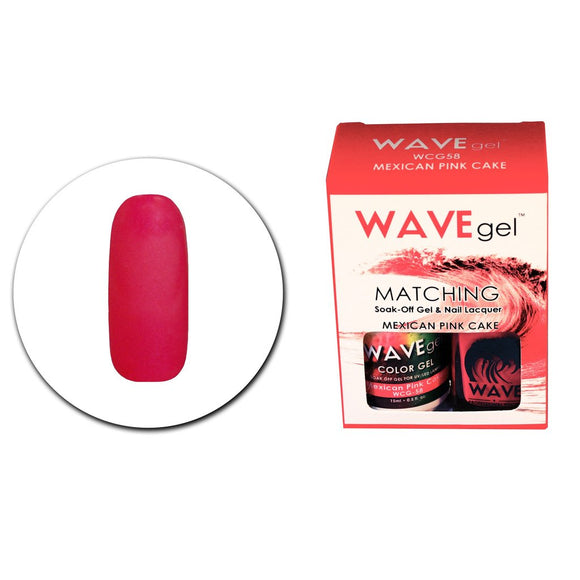 Wave Gel Matching Duo (Mexican Pink Cake - WCG58)