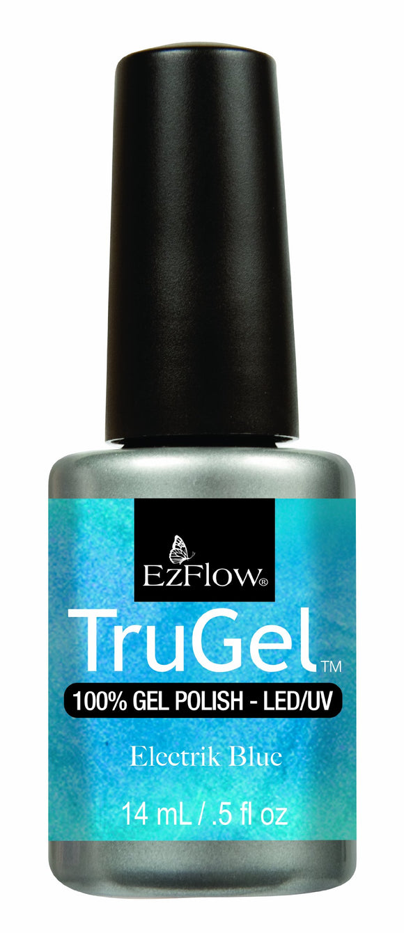 Ez Flow TruGel LED/UV Gel Polish - 14 mL (Electrick Blue - EZTG42482)