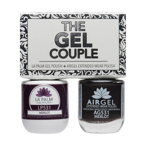 La Palm Gel Couple Duo - 14 mL (Merlot - TGC531)