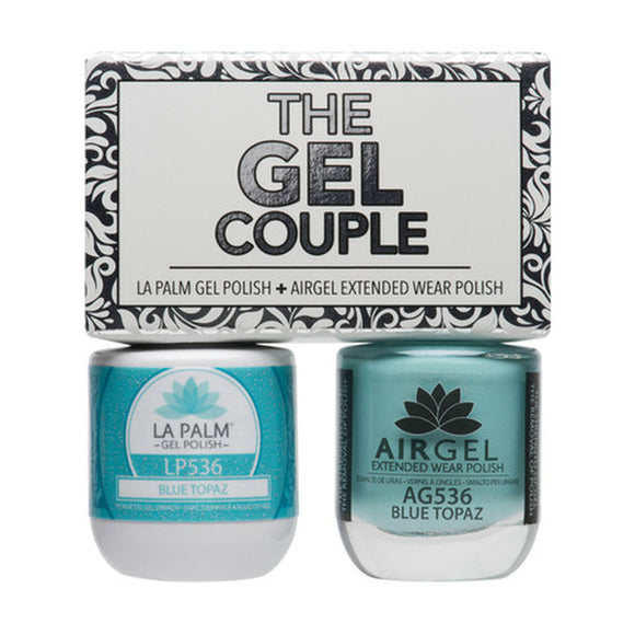 La Palm Gel Couple Duo - 14 mL (Blue Topaz - TGC536)