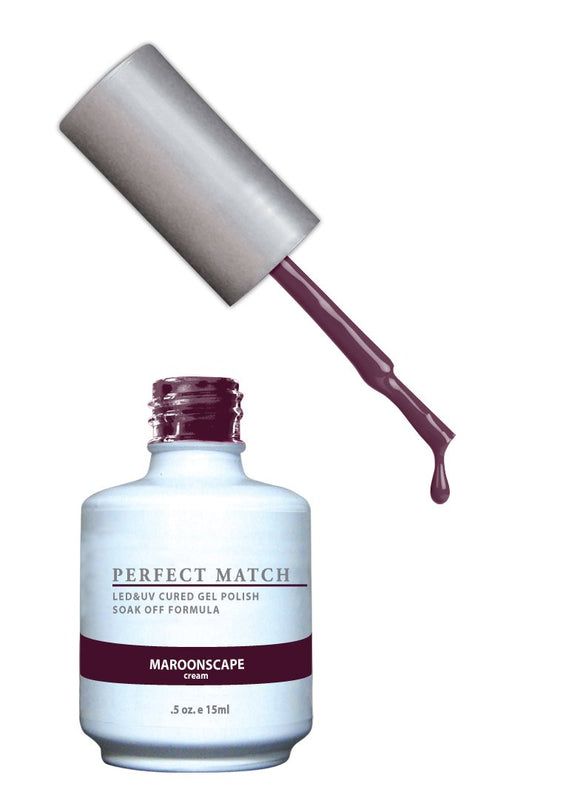 LeChat Perfect Match Nail Polish - 0.5 Oz (Maroonscape - PMS132)
