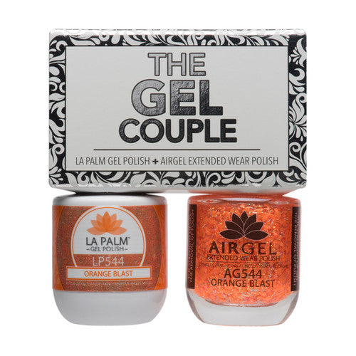 La Palm Gel Couple Duo - 14 mL (Orange Blast - TGC544)