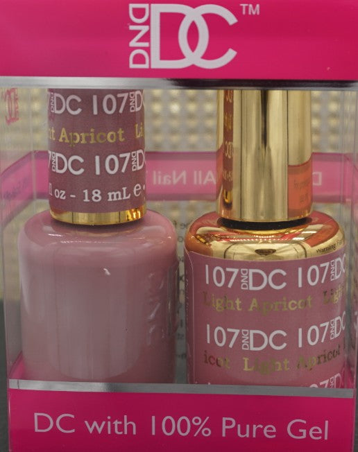 DND DC Collection-107 Light Apricot- 18 mL