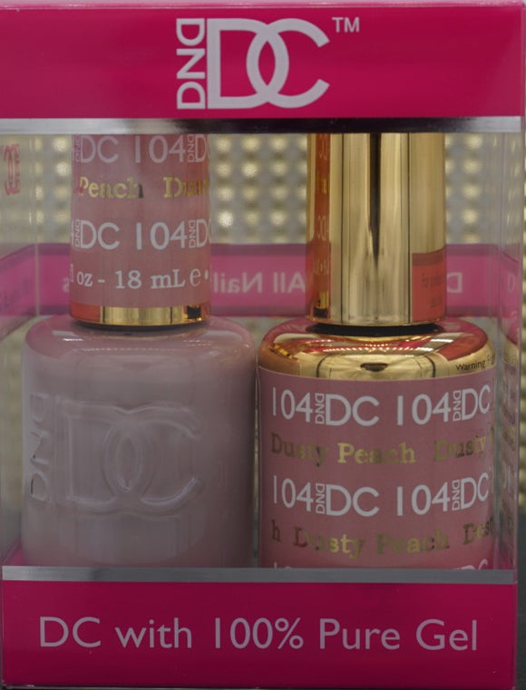 DND DC Collection-104 Dusty Peach- 18 mL