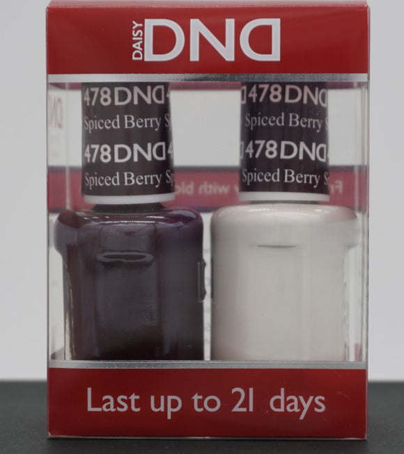 DND Gel & Matching Polish - Duo - (Spiced Berry - DD478)