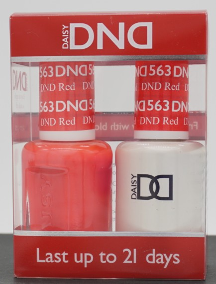 DND Gel & Matching Polish - Duo - (DND Red - DD563)