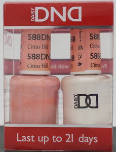 DND Gel & Matching Polish - Duo - (Citrus Hill - DD588)