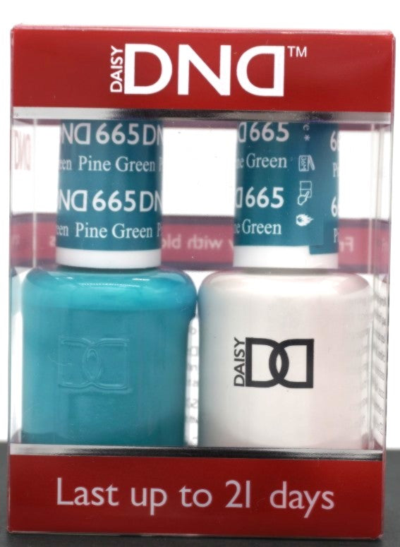 DND Gel & Matching Polish - Duo - (Pine Green - DD665)