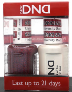 DND Gel & Matching Polish - Duo - (University Red - DD676)