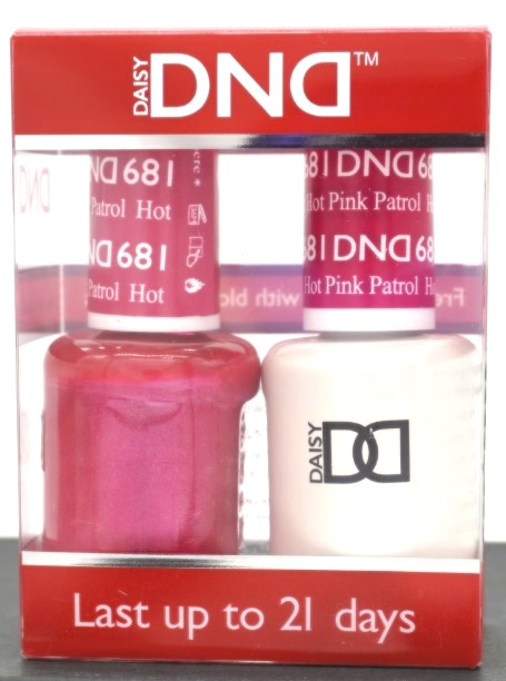 DND Gel & Matching Polish - Duo - (Hot Pink Patrol - DD681)