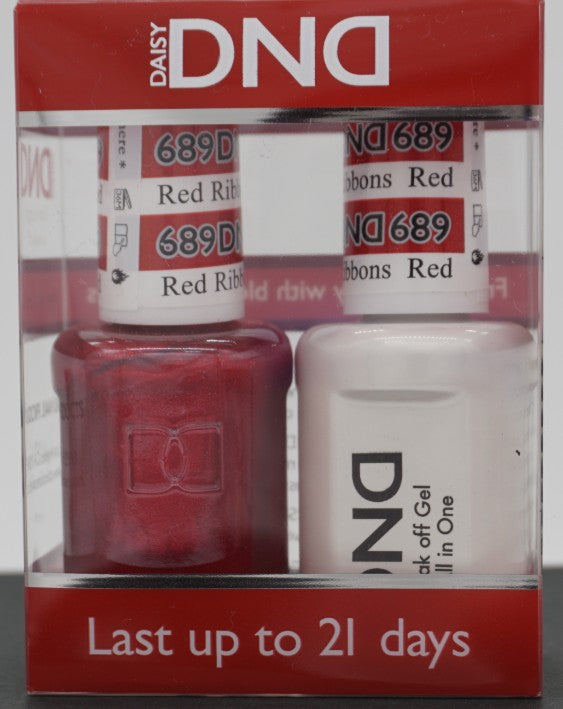 DND Gel & Matching Polish - Duo - (Red Ribbons - DD689)
