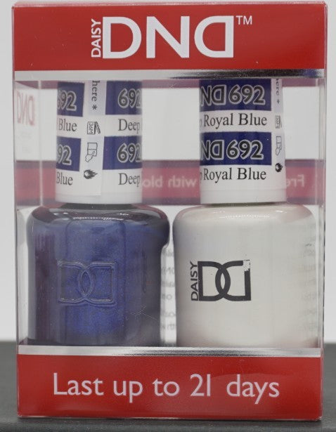 DND Gel & Matching Polish - Duo - (Deep Royal Blue - DD692)