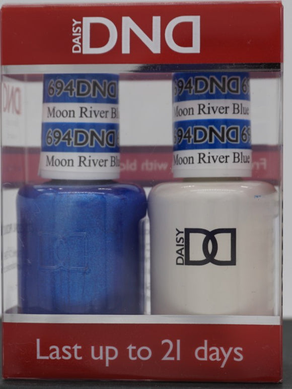 DND Gel & Matching Polish - Duo - (Moon River Blue - DD694)