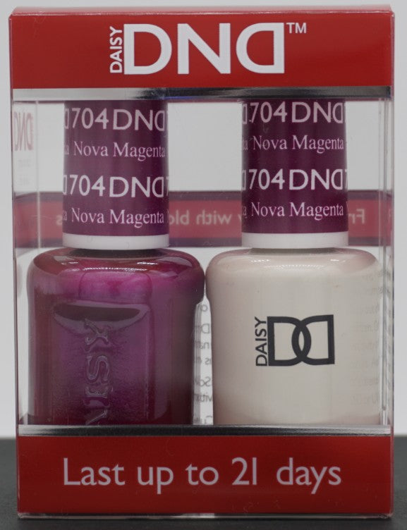 DND Gel & Matching Polish - Duo - (Nova Magenta - DD704)