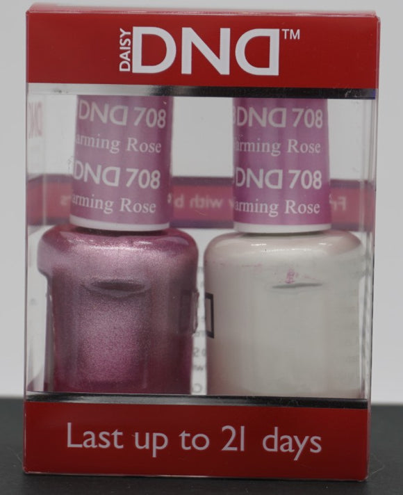DND Gel & Matching Polish - Duo - (Warming Rose - DD708)