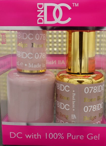 DND DC Collection-078 Rose Beige- 18 mL