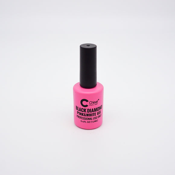 Chisel Black Diamond Pink & White Gel - 12 mL (Pink & White Gel - CHBDPW)