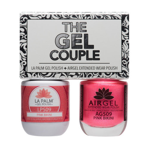 La Palm Gel Couple Duo - 14 mL (Pink Bikini - TGC509)