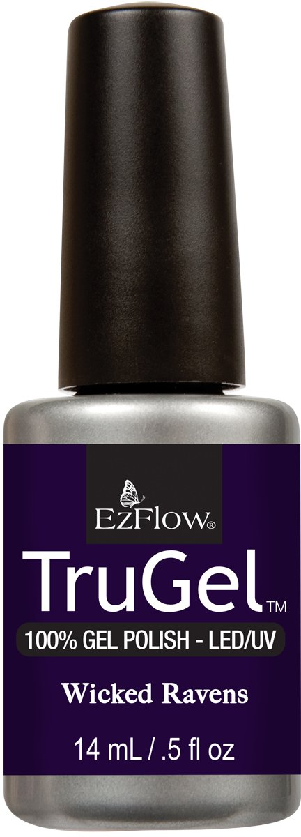 Ez Flow TruGel LED/UV Gel Polish - 14 mL (Wicked Ravens - EZTG42555)