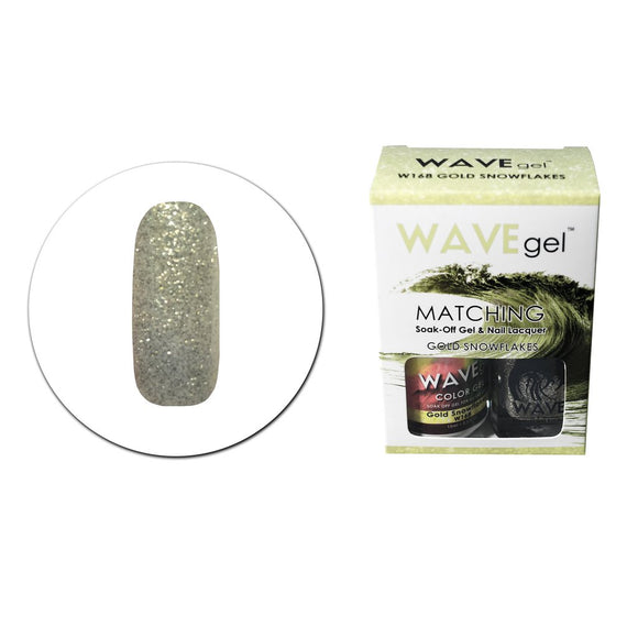 Wave Gel Matching Duo (Gold Snowflakes - W168)