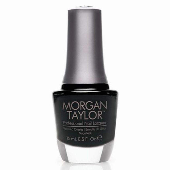 Morgan Taylor Professional Nail Lacquer  - 15 mL (Black Shadow  - MT3110830)