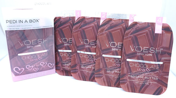 Voesh Pedi In A Box- Deluxe 4 step System- Chocolate Love
