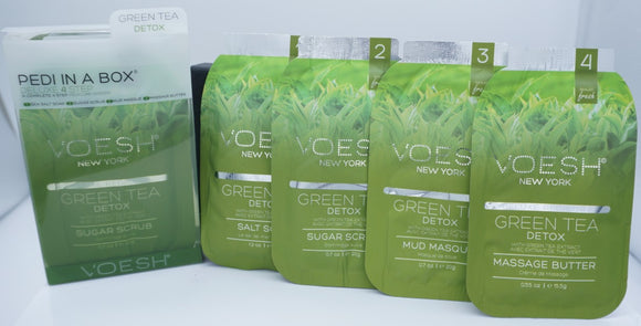 Voesh Pedi In A Box- Deluxe 4 step System-Green Tea Detox