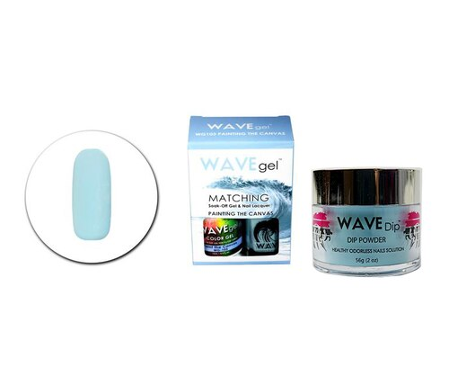 WaveGel Matching Gel Polish & Lacquer Duo (15mL) +Wave Dip Dip Powder- 2oz- #103 Painting The Canvas