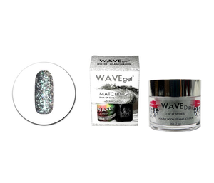 WaveGel Matching Gel Polish & Lacquer Duo (15mL) +Wave Dip Dip Powder- 2oz- #105 Glamourous