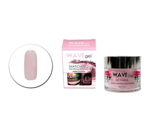 WaveGel Matching Gel Polish & Lacquer Duo (15mL) +Wave Dip Dip Powder- 2oz- # 124 Pinkilicious