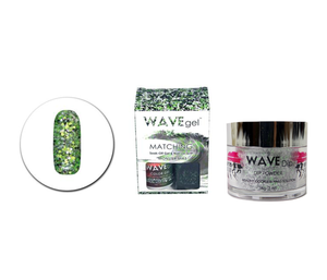 WaveGel Matching Gel Polish & Lacquer Duo (15mL) +Wave Dip Dip Powder- 2oz- # 133 Monster Mike