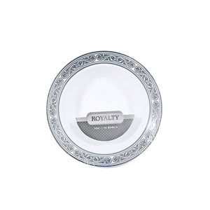 Royalty White / Silver 5 oz Bowl