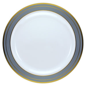 "Lillian Platinum Magnificence 10.25"" Plate"