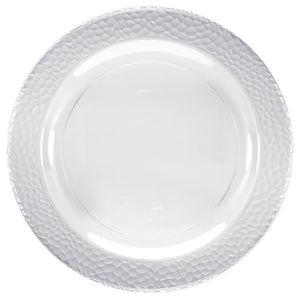 "Lillian Pebbled Clear 10.25"" Plate"