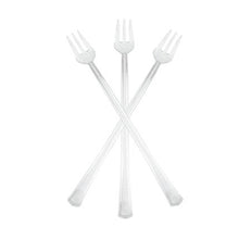 "6"" Cocktail Forks Clear"