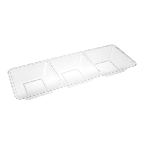 Clear Big 3 Sections Tray