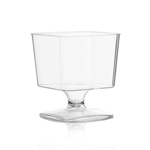 Clear Square Base Mousse Cup