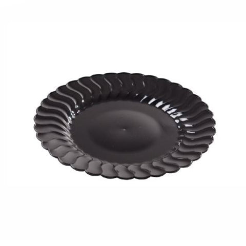 18 pieces Salad Plate - Black