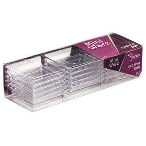 Mini Clear 3 Section Dish