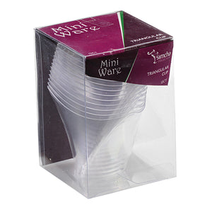 Mini Clear Triangular Cup