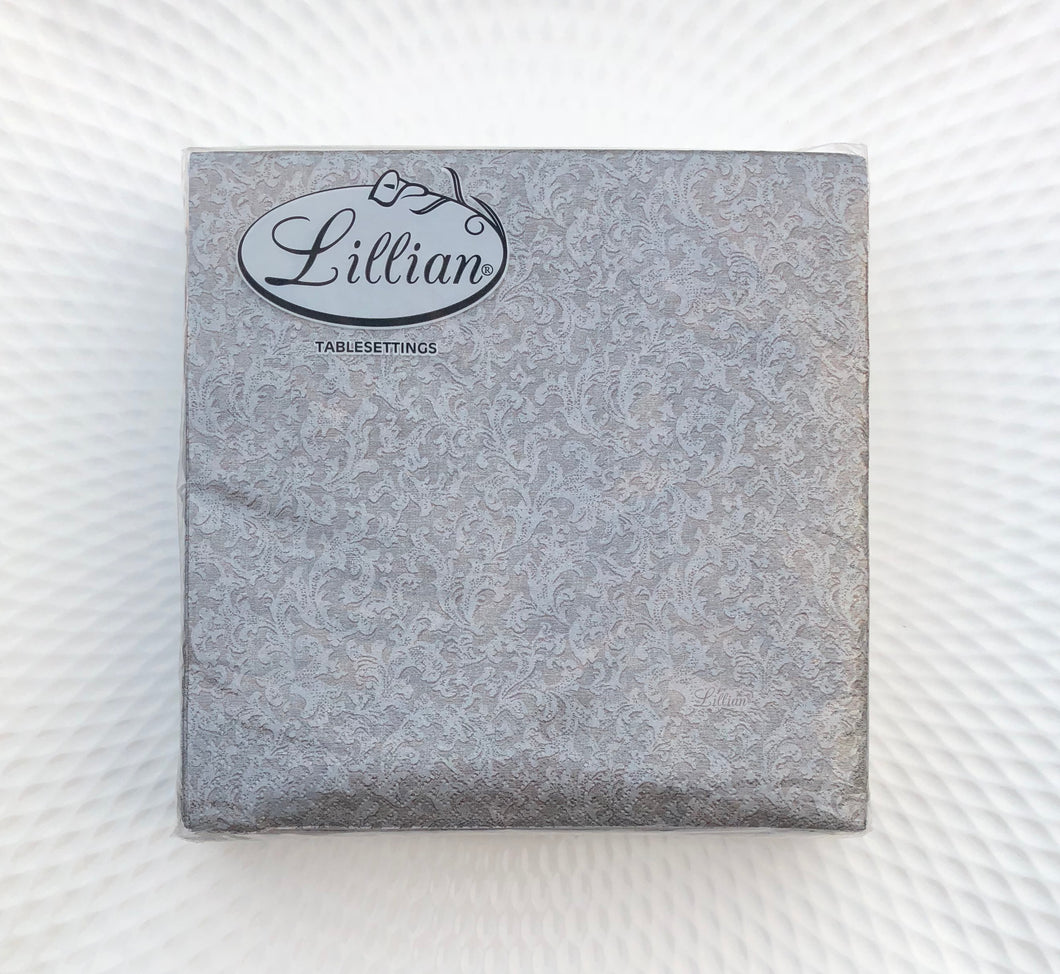 Texture Silver Lunch Napkin