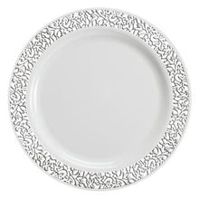"Lace White / Silver 10.25"" Plate"