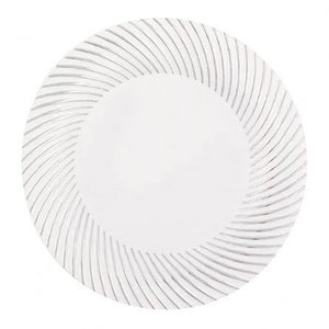 "My Style White / Silver 10"" Plate"