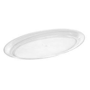 "11"" x 16"" Clear Oval Serving Tray"