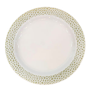 "Lillian Pebbled Gold 10.25"" Plate"