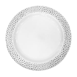 "Lillian Pebbled Silver 10.25"" Plate"